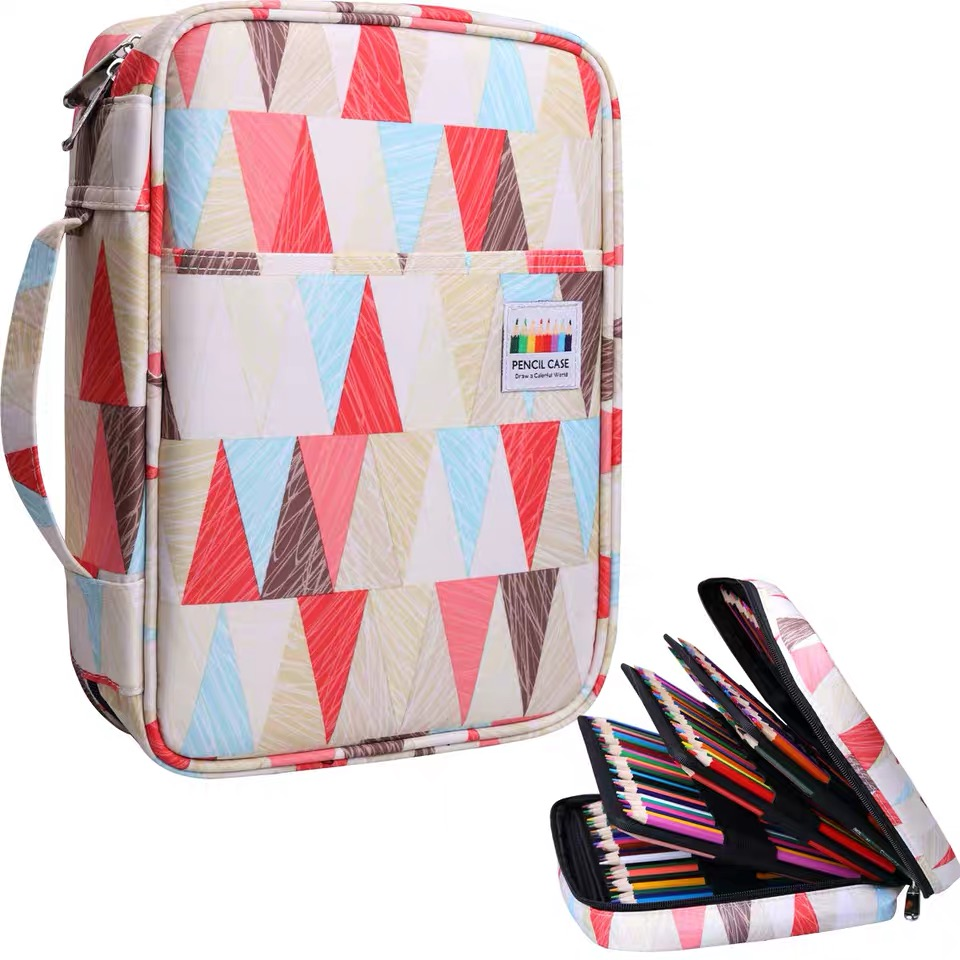 220 Slots Large Capacity Pencil Bag Case Organizer Cosmetic Bag For Student Watercolor Pen Pens Great Gifts
