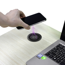 цена на Embedded Wireless Charger For HUAWEI XIAOMI iPhone Samsung Desk Counter Desktop Bedside table Furniture Office QI CellPhone