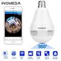 INQMEGA 960P панорамный светильник с лампочкой на 360 градусов, ip-камера, беспроводная, Wifi, объектив рыбий глаз, HD лампа, камера, домашняя камера без...