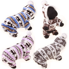 1 Pet Dog Warm Clothes Double-sided Warm Coral Fleece Cotton Line Trousers Jumpsuit Hoodie Coat Dog Clothing(China)