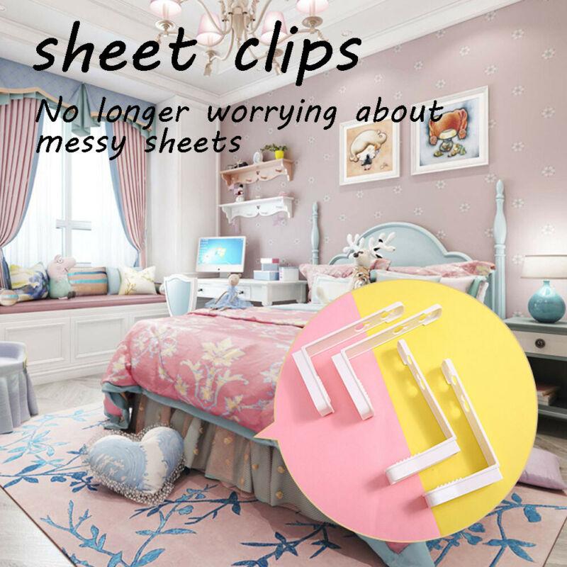 4pcs Non-slip Fastener Comforter Bed Sheet Clip Duvet Holder Quilt Gripper Bedclothes Clips