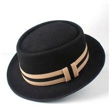 2 Size Men Women Pork Pie Hat Fedora Hat For Lady Gentleman Outdoor Flat  Jazz Hat