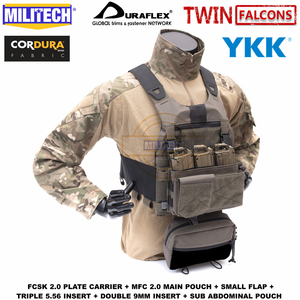 Image 3 - MILITECH TW FCSK 2.0 Advanced Slickster Mil Spec Plate Carrier With MFC 2.0 Main Pouch And Sub Abdominal Pouch Loadout Set Deal