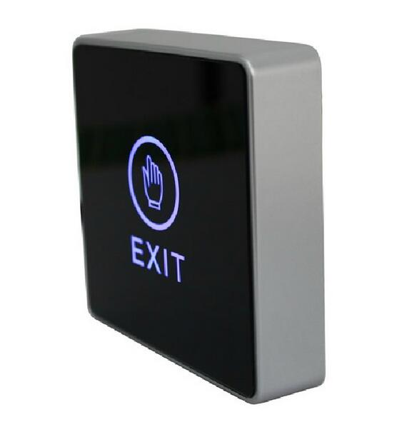 Touch Exit Button With LED Indicator 86mm X 86mm Panel Door For Access Control System For Home Security Protection