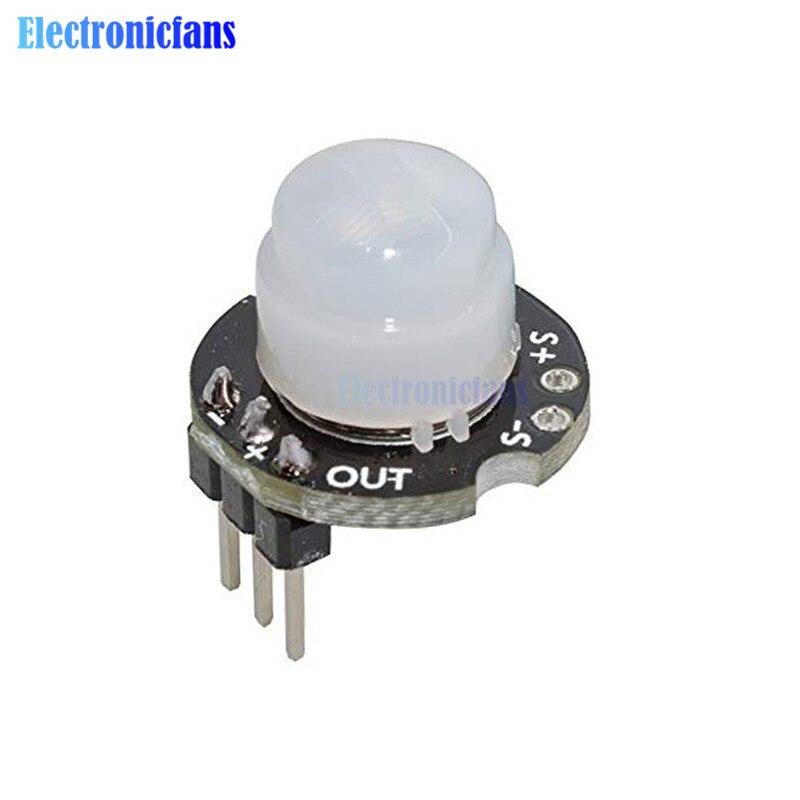 MH-SR602 MINI Motion Sensor Detektor Modul SR602 Pyroelektrische Infrarot PIR kit sensorischen schalter Halterung für Arduino Diy Mit objektiv