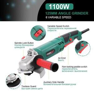 Image 5 - Elektrische Winkel Grinder 1050W 125mm Variable Geschwindigkeit 3000 10500RPM Toolless Schutz für Schneiden Schleifen Metall oder stein Arbeiten LANNERET