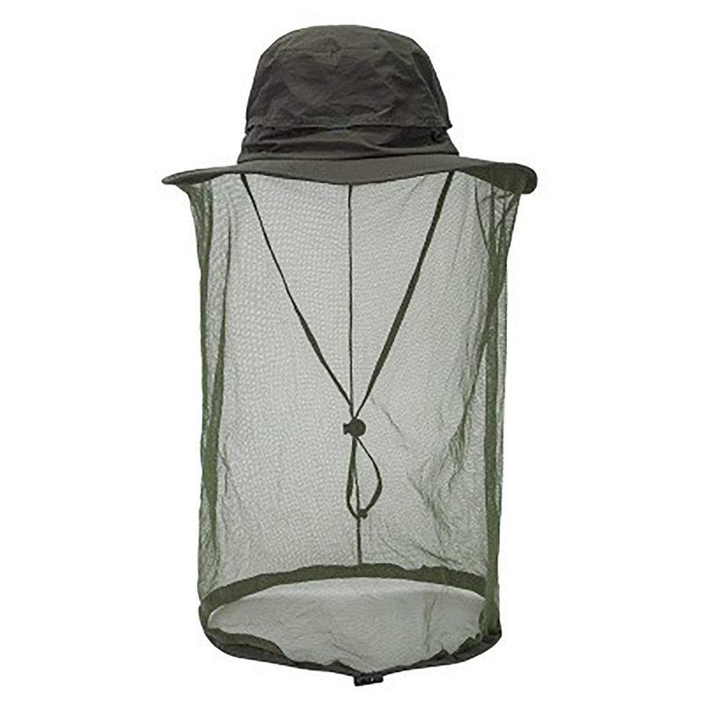 Summer Outdoor Women Men Anti Bug Bee Mosquito Hat Net Yarn Sun Protection Bucket Cap Big Eaves Fisherman Hat
