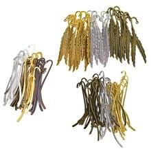130pc Simple Flat Bookmark Hooks Beading Book Marks Hanging Jewelry