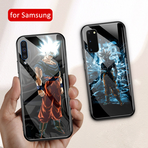 Anime case For Samsung S20 glas hard back cover goku dragon ball A70 case for S20 Plus s20 Ultra A20 A30 A50 A70 A7 A8 plus 2018(China)