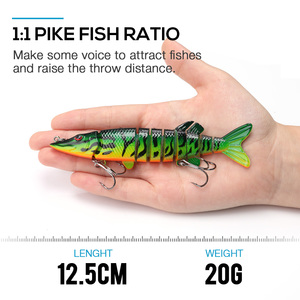 Image 2 - VTAVTA 3/5pcs Artificial Pike Wobblers Fishing Lures Set 12.5cm 20g Multi Jointed Hard Bait Crankbait Swimbait Fishing Tackle