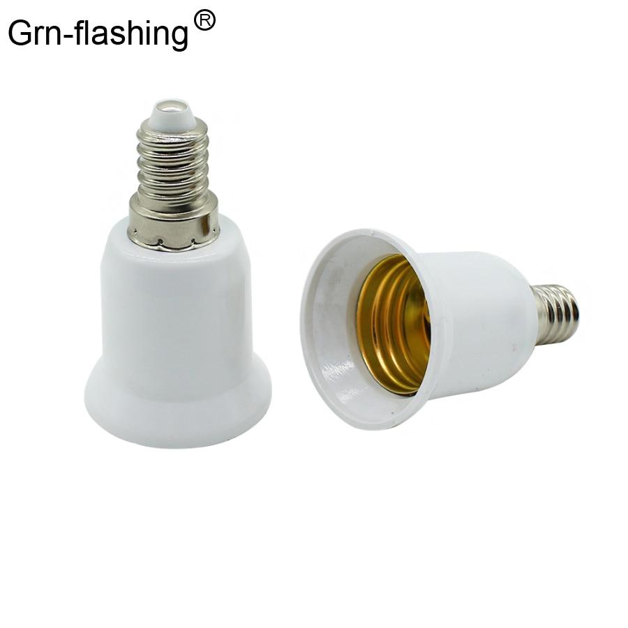 1Pcs Fireproof Material E14 To E27 Lamp Holder Converter LED Light Bulb Lamp Socket Base Type Adapter Conversion