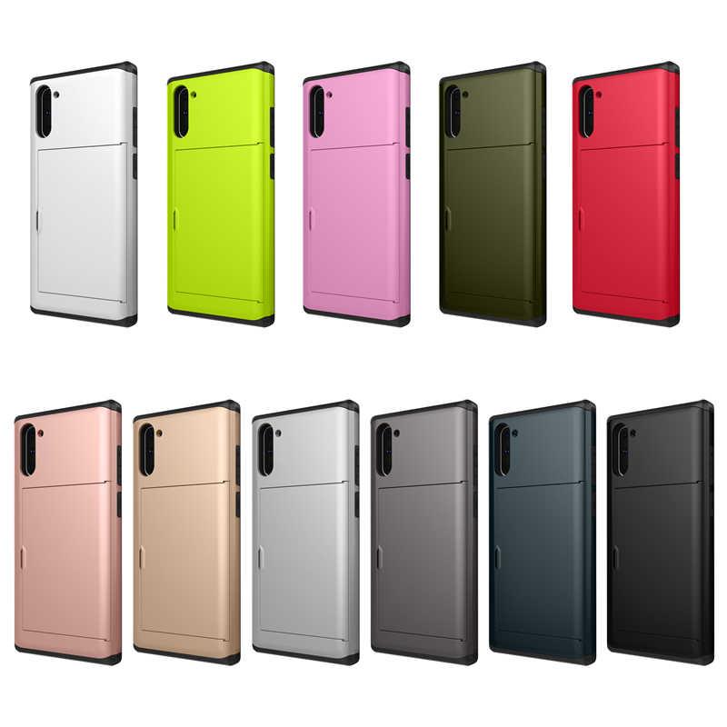 VIAERSON Spigen Slim Armor CS coques de téléphone portable avec support de fente pour carte pour Note 10 Plus 9 8 S10 5G S10E S9 S8 S7 S6 edge