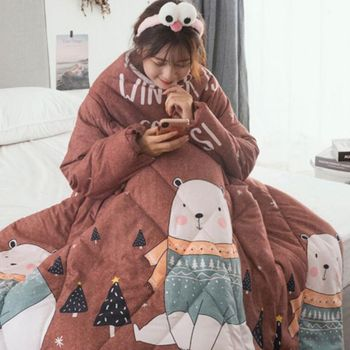 New Blanket Cape Cloak Nap Winter Lazy Quilt With Sleeves Family Blanket Dormitory Mantle Covered Blanket