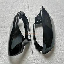 الجانب مرآة كاب يغطي لأودي A6 C7 C7.5 S6 4G 2012 2013 2014 2015 2016 2017 2018 الرؤية الخلفية الجناح حالة الأسود