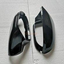 Крышка бокового зеркала, чехлы для Audi A6 C7 C7.5 S6 4G 2012 2013 2014 2015 2016 2017 2018 чехол с крыльями заднего вида черный