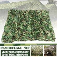 2x 6 m/2x 8 m/3x 4 m/3x 5 m/3x 6 m/4x6 m de la selva redes de camuflaje Woodland de entrenamiento, de ejército camuflaje red Camping sol refugio