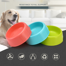 1PC Dog Bowl PP Travel Cat Bowls Feeding Feeder Candy Color Water for Pet Dogs Cats Puppy Food Container - Random