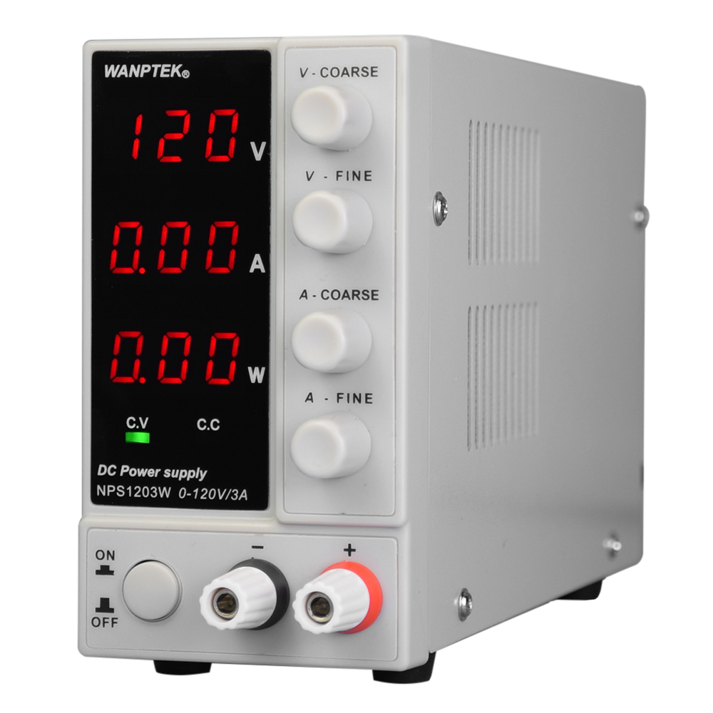NPS1203W 0 120V 0 3A 115/230V Switching DC Power Supply 3 Digit Display LED High Precision Adjustable Mini Power Supply