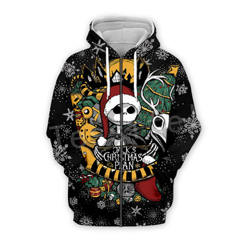Tessffel Tracksuit Animal Funny Merry Christmas SantaClaus Colorful Casual 3DPrint Zipper/Hoodies/Sweatshirt/Jacket/Men Women s3 2
