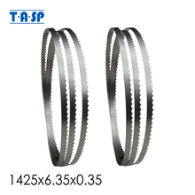 TASP 2pcs 56x1/4 Bandsaw Blade 1425x6.35x0.35mm Woodworking 8 Band Saw Tools Accessories for Draper Nutool FOX Silverline