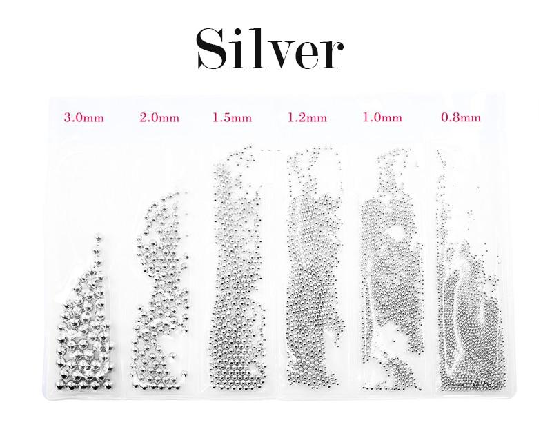 08 30 мм 3d микро мини металлические бусины для ногтей круглые