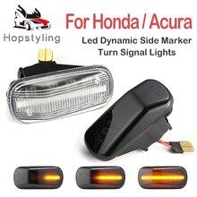 2PCS Dynamic Led Side Marker Lamp Turn Signal Lights For Honda Accord City CR-V HR-V Stream Jazz Fit S2000 AP1 AP2 Integra DC5