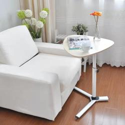 Mobile Snack End Table Sofa Side Table for Coffee or Laptop Computer  Desk with Metal Frame and Casters in Living Room Furniture