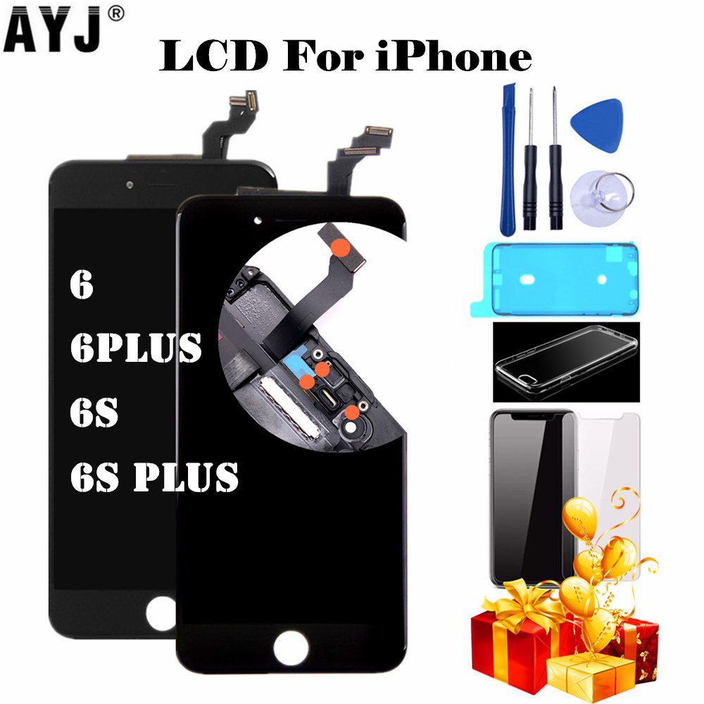 AAAAA Display For iPhone 6 6S Plus LCD 3D Force Touch Screen Digitizer Assembly 5S SE LCD Repair No Dead Pixel Dust Warm White image