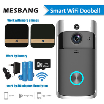 wifi video doorbell wireless door intercom camera battery power smart door bell phone calling with chime TF card free shipping цена 2017