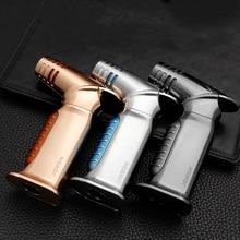 Jobon 2020 Torch Lighter 4 Nozzles Jet Gas Cigar Turbo Windproof Powerful Metal Spray Gun Kitchen Pipe Outdoor