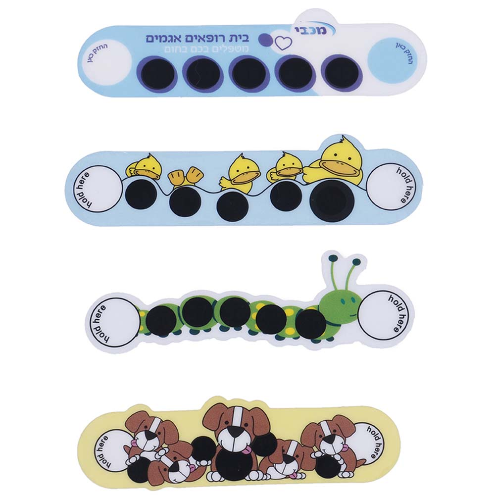 5 Pcs Cute Cartoon Baby Kids Forehead Sticker LCD Forehead Thermometers Body Fever Thermometers Children Safety Baby Care