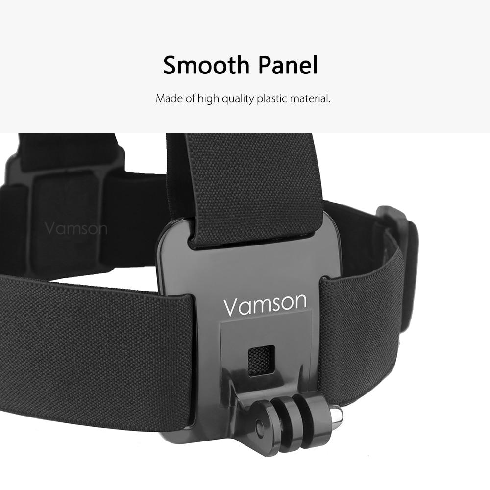 Vamson pour Go pro 9 accessoires tête ceinture sangle montage réglable pour Gopro Hero 9 8 7 6 5 4 3 + 2 1 pour SJCAM pour Yi 4K VP202