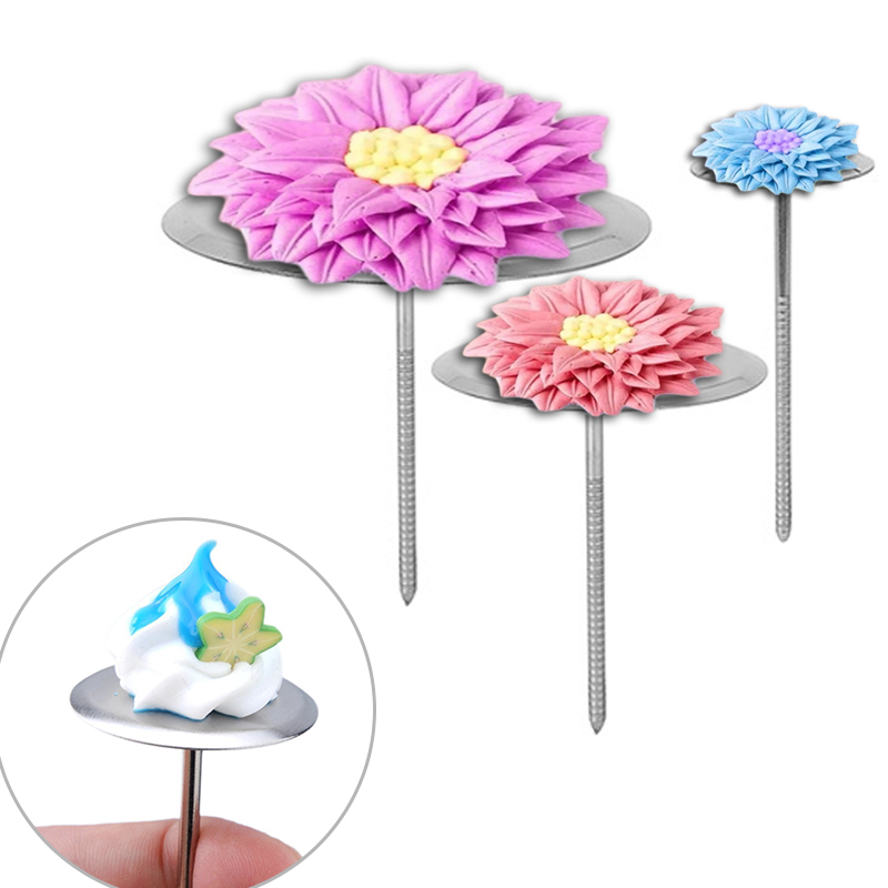 Cake Decorating Tools Flower Stainless Steel Baking Piping Stands Tools Ice Cream Cake DIY Decorating Kitchen Accessories