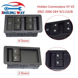 Black / Grey (Gray) 2 / 4 Buttons Doors Power Window Master Switch For Holden Commodore VY VZ 2002 2003 2004 2005 2006 92111628