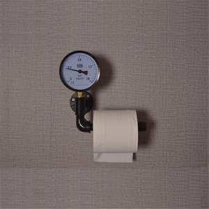 Image 5 - Porte rouleau papier toilette avec support pour téléphone étagère murale flottant support de tuyau deau articles ménagers industriels rustiques