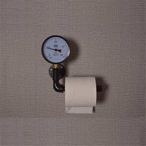 Image 5 - Toilet Paper Roll Holder with Phone Holder Wall Mounted Shelf Floating Water Pipe Rack Rustic Industrial Household Items