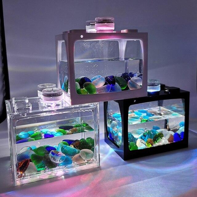 Mini Fish Tank For Desk Top Goldfish - Tetras - Bettas 1