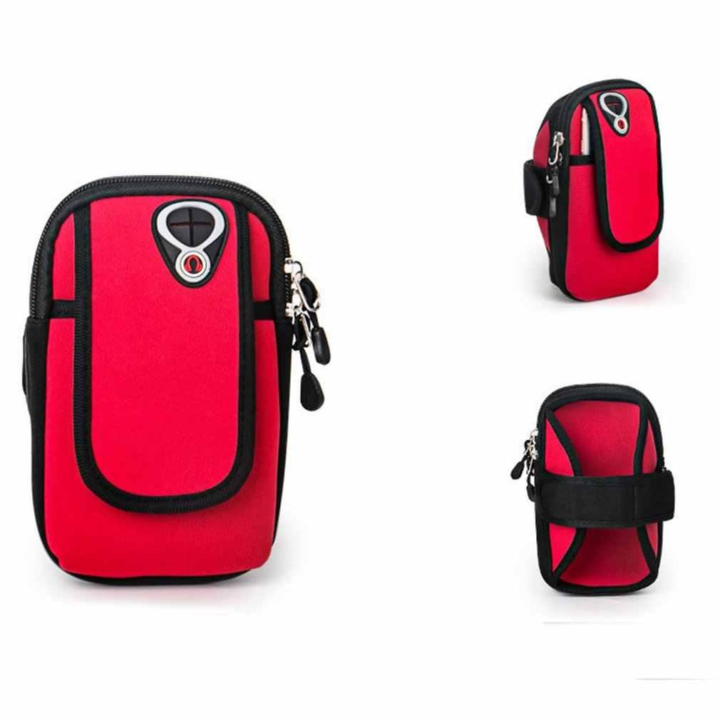 Camuflaje impermeable 6 pulgadas teléfono móvil brazo banda bolsa al aire libre deporte caja en funcionamiento brazalete titular en la mano para iphone caliente