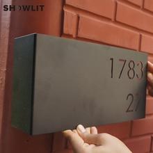 Изогнутая номерная табличка для дома черная окрашенная дверная пластина дома на выбор