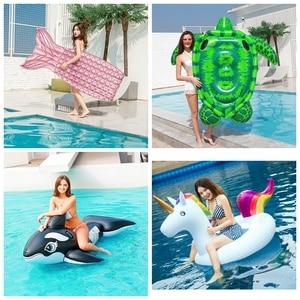 Image 5 - מזרן מתנפח בריכת שחייה לצוף מזרן ענק בריכת טרקלין מסיבת צעצועים למבוגרים קיץ חוף שחייה טבעת חיים מצוף רפסודה