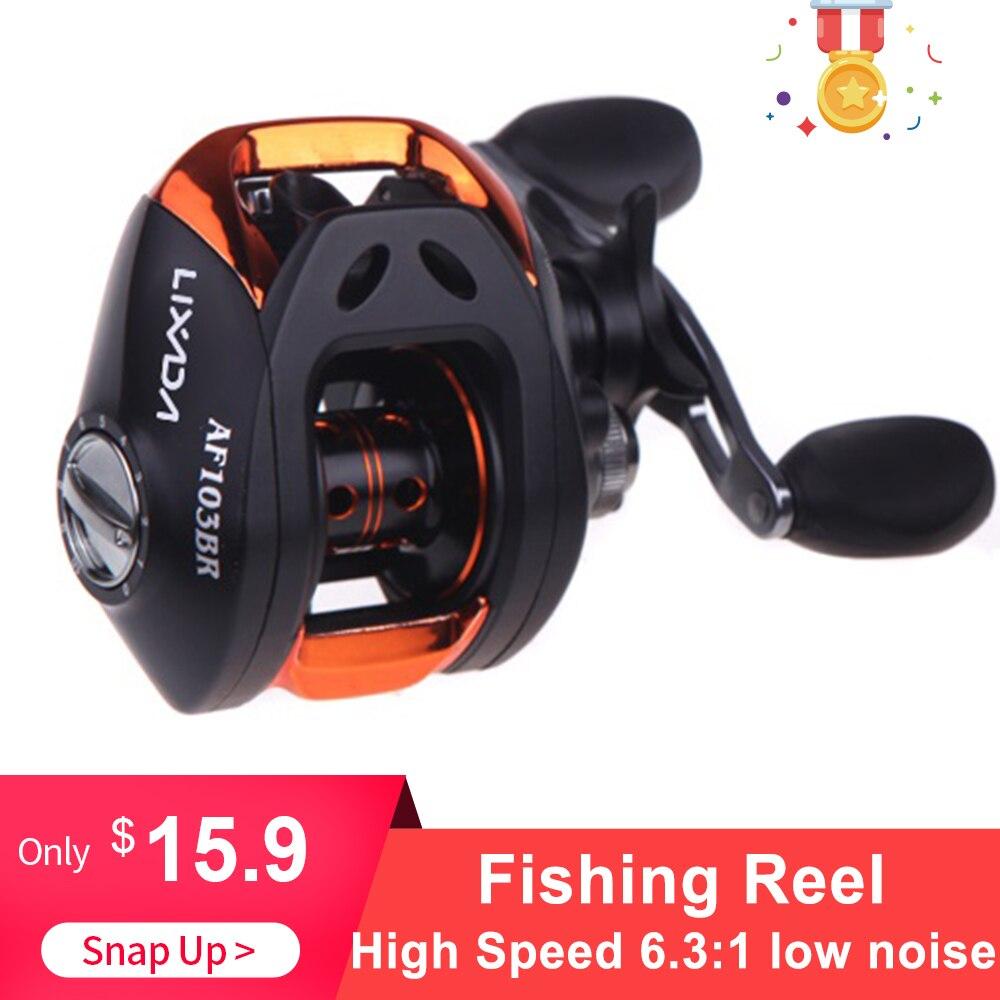 10 + 1BB Rolamentos Baitcasting Reel Fishing Reel Bait Casting Reel Fishing Alta Velocidade 6.3: 1