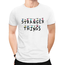 LUSLOS Stranger Things T Shirt Men Tshirt Letter Printed Fashion Man Tee Tops Streetwear Harajuku T-shirts Men's Tee Shirts 2019