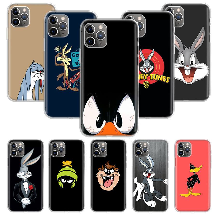 Bugs <font><b>Bunny</b></font> Looney Tunes <font><b>Case</b></font> for Apple <font><b>iphone</b></font> 11 Pro XS Max XR X 7 8 6 6S Plus 5 <font><b>5S</b></font> SE 10 Ten Gift Silicone Phone Cover Coque image