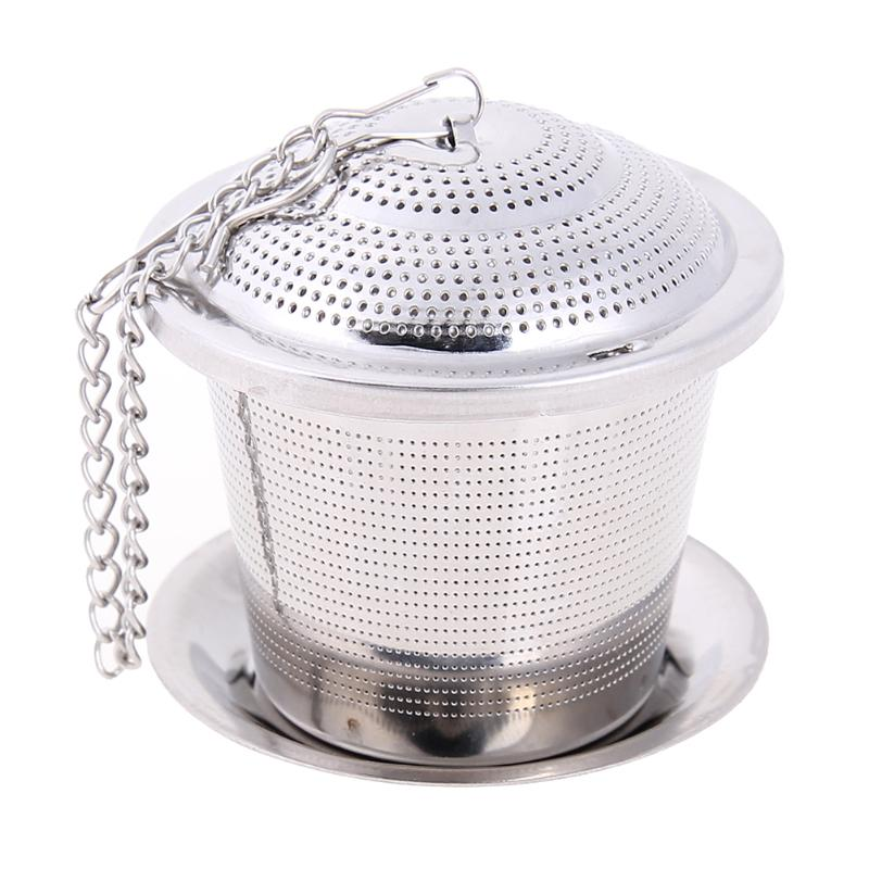 Stainless Steel Tea Infuser Loose Leaf Tea Strainer Herbal Spice Filter Reusable Teaware Tea Spice Tea Pot Accessories