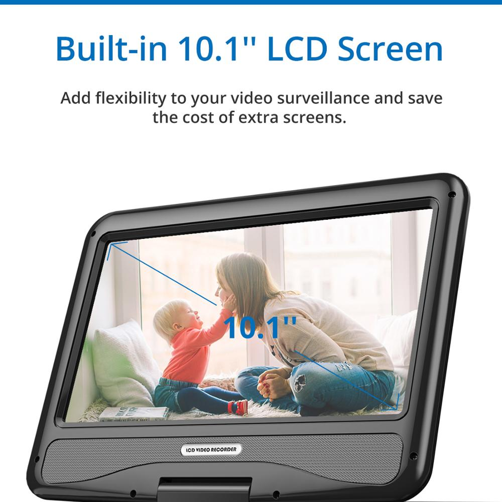 SANNCE 2MP 1080P CCTV System 8CH HD Wireless NVR Kit mit 10,1 ''LCD Screen Nachtsicht 4 stücke IP Wifi Kamera Sicherheit System