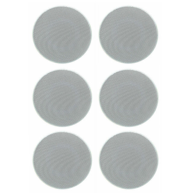 Herdio 4 Inch 160 Watts 2 Way Flush Mount in Wall in Ceiling 2 Way Home Audio Speaker System For Bathroom Kitchen Home 3 Pair