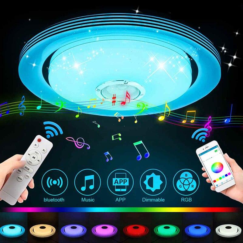 Universal 110-220V RGB LED Ceiling Lights Home Lighting 36W 60W APP Bluetooth Music Light Bedroom Lamps Smart Ceiling Lamp