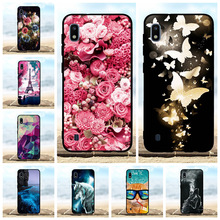 For Samsung Galaxy A10 Cover Soft Silicone SM-A105F Case Flowers Pattern Shell Bag