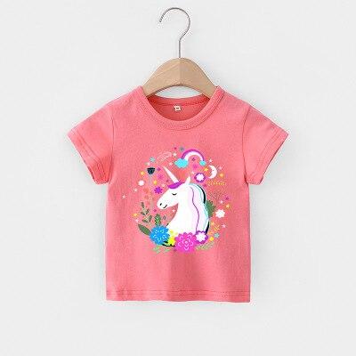 VIDMID Baby girls t-shirt Summer Clothes Casual Cartoon cotton tops tees kids Girls Clothing Short Sleeve t-shirt 4018 06 17
