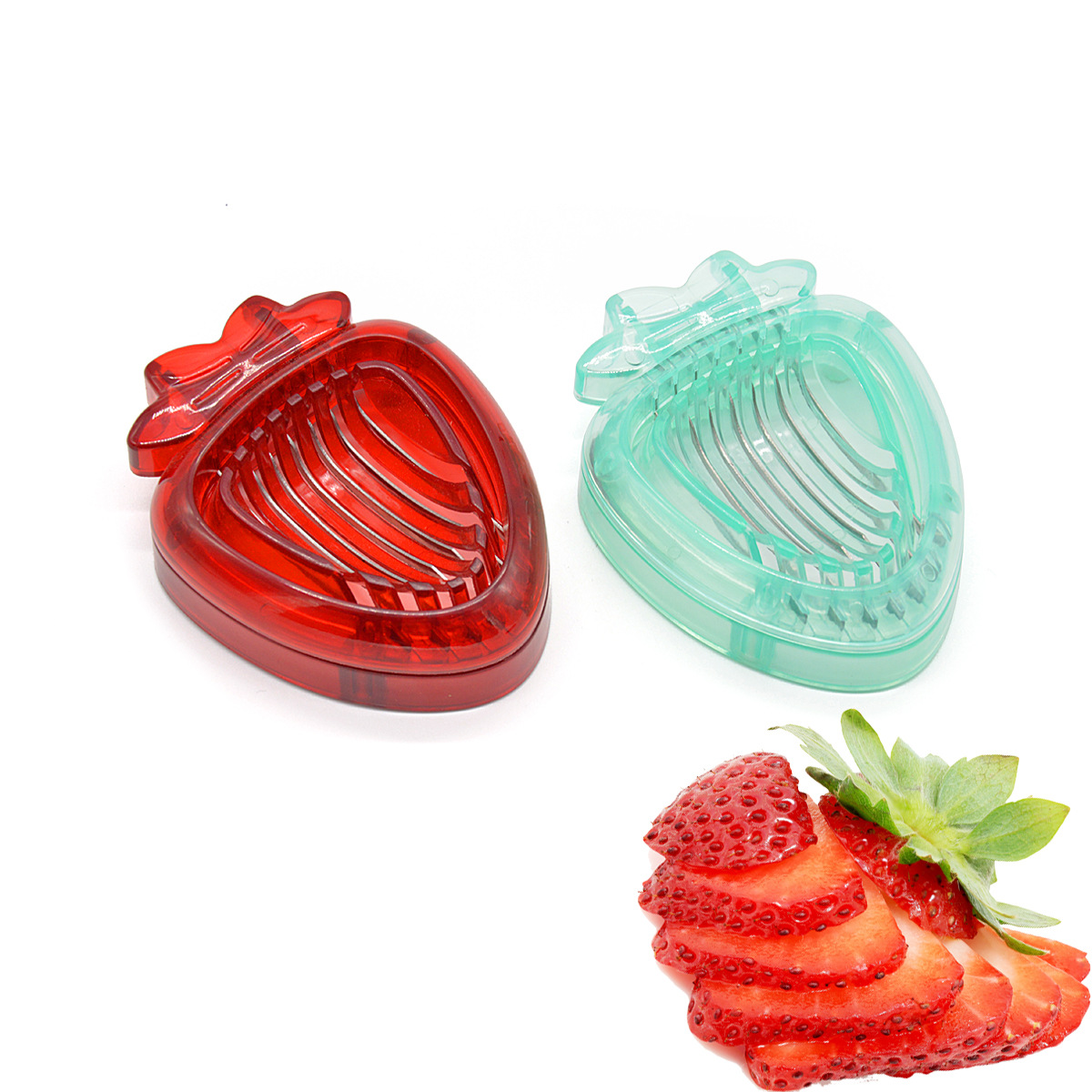 Strawberry Slicer Fruit Cutter Strawberry Cutter Stainless Steel Fruits Cutter Kitchen Tools